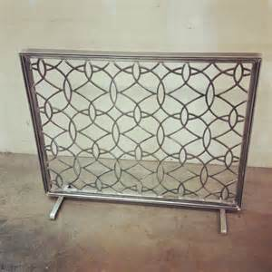 custom metal fireplace screen by ironcraft