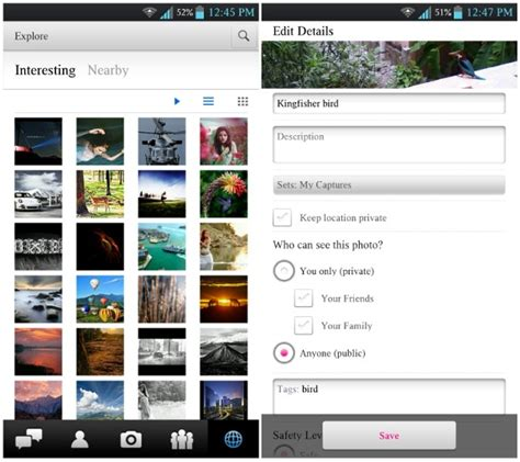 flickr for android flickr for android v1 5 update brings explore feature improved search and more