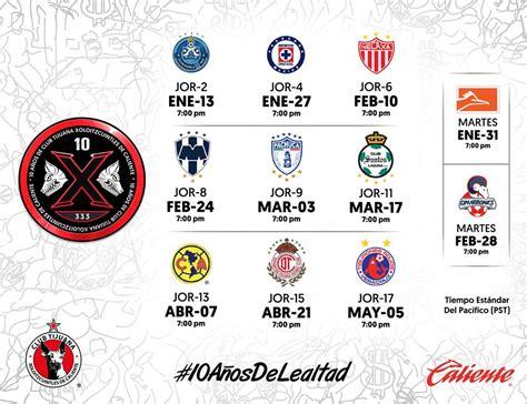 Calendario De Xolos Calendario Xolos Tijuana Clausura 2017 Agp Deportes