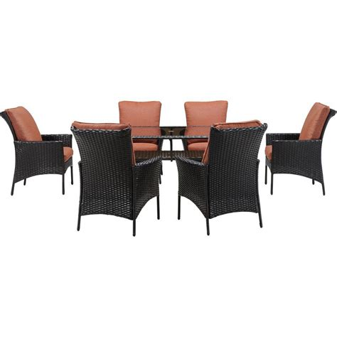 7 Wicker Patio Dining Set by Hanover Strathmere 7 All Weather Wicker