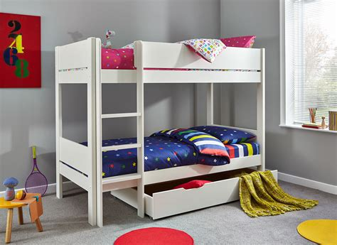 tinsley bunk bed  drawer white dreams