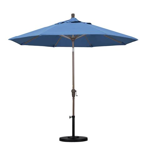 6 Ft Umbrella For Patio Destinationgear Palapa 6 Ft Aluminum Tilt Patio Umbrella In Brown 1266 The Home Depot