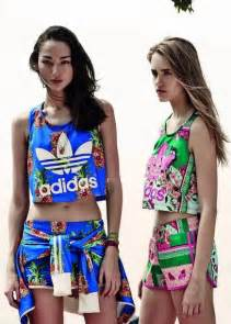 matching set tank top adidas top shorts colorful fashion casual sweater shirt two t