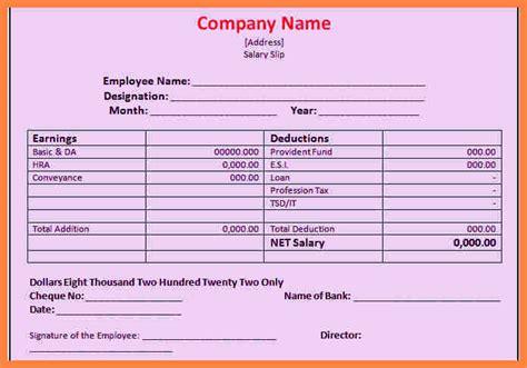 7 salary sheet format pdf salary slip