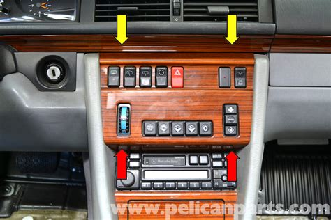 Wood Panel Ac W124 Boxer mercedes w124 climate controls removal 1986 1995 e