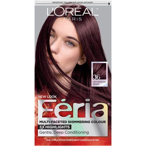 chocolate cherry and deep burgundy bown color pont tials extensions amazon com l or 233 al paris couleur experte hair color