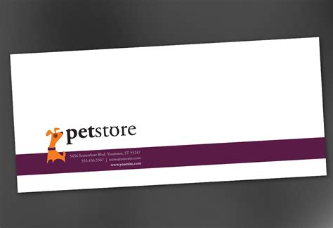 envelope template for pet store design order custom