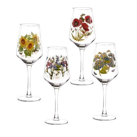 Portmeirion Botanic Garden Set Of 4 Wine Glasses Portmeirion Botanic Garden Glasses