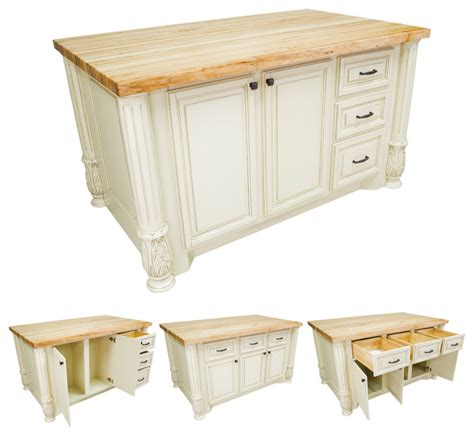 lyn design kitchen islands lyn design isl05 awh white kitchen island traditional