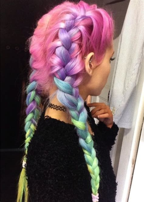 rainbow color hair ideas 20 rainbow hair color ideas jaderbomb