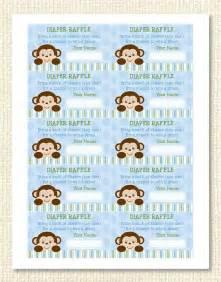 monkey diaper raffle tickets instant download raffle