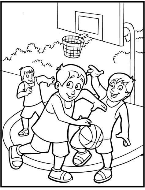 free sports coloring pages for kids coloring home