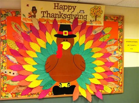 kindergarten themes thanksgiving kindergarteners are thankful for thanksgiving bulletin