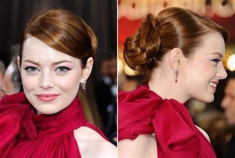 emma stone updo emma stone s sleek oscars updo do it yourself how to