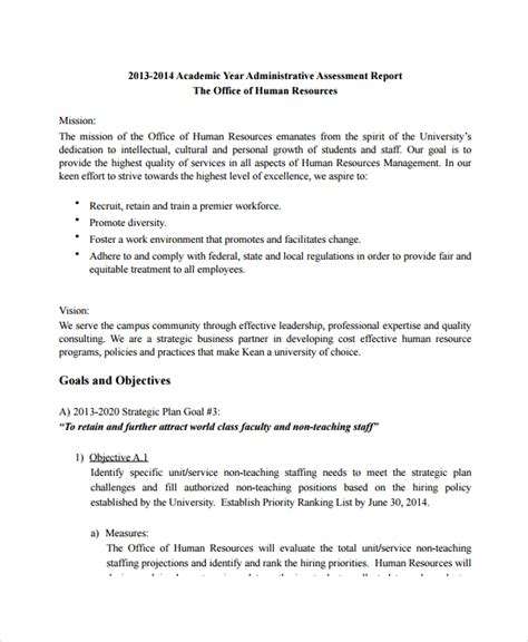 hr management report template sle hr report 17 documents in word pdf