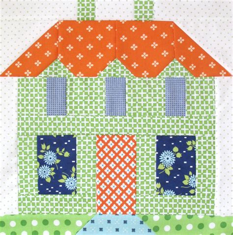 Quilt Pattern Home Sweet Home | bee in my bonnet my home sweet home quilt block pattern