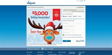 Valpak Sweepstakes - valpak com holidays valpak 5 000 holiday savings sweepstakes