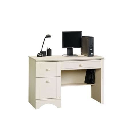 Computer Desk In Antiqued White 401685 Cymax Computer Desk