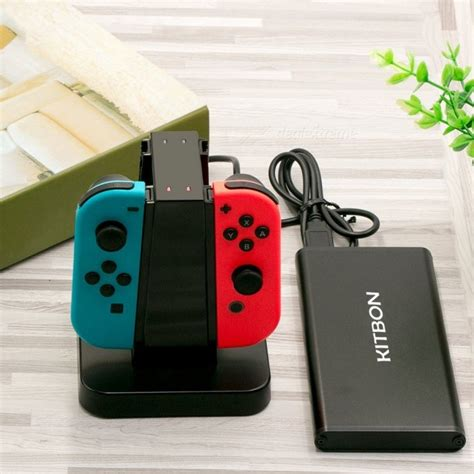nintendo switch charging light kitbon 4 in 1 charging station dock for nintendo switch