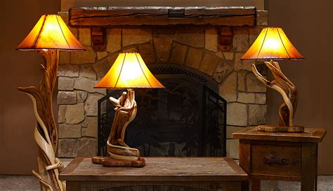 Twisted juniper lamp with cowhide shade colorado classics