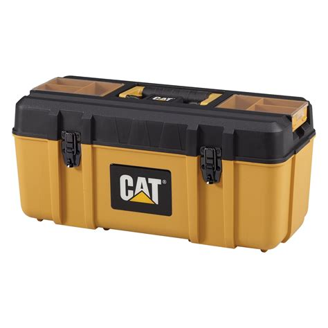 Caterpillar Ct11248 Free Box Yellow Black cat premium plastic portable tool box with lid organization and removable new ebay