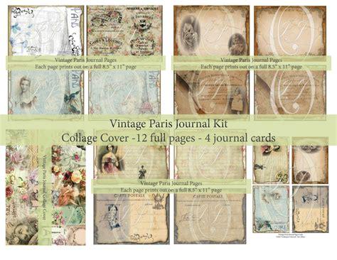printable junk journal printable junk journal kit vintage paris theme for junk