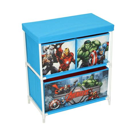 marvel avengers kids storage box 3 drawers bedroom furniture