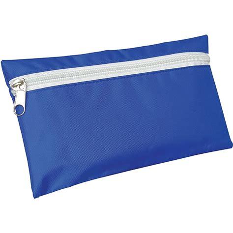 pencil royal blue white zip