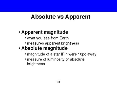 absolute magnitude of sun absolute and apparent magnitudes