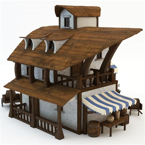 pirate house 3d model of pirate house