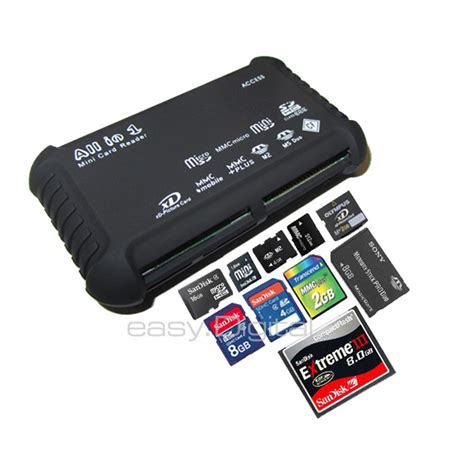 Card Reader 4 In 1 All In One 4 Slot 1 all in 1 multi memory card usb reader sd sdhc mini micro m2 mmc xd cf 690142753966 ebay