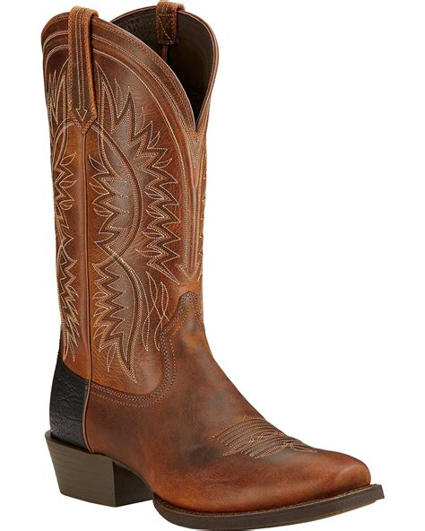 ariat square toe cowboy boots ariat s troubadour cowboy boot square toe 10017359