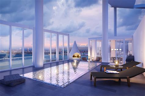luxury penthouse with terrace and swimming pool for sale in tribeca penthouse in miami sells for 8 6 million mansion global