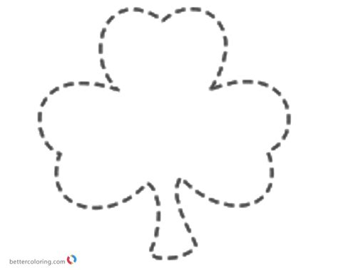 free printable st day coloring pages shamrock coloring pages for st day free