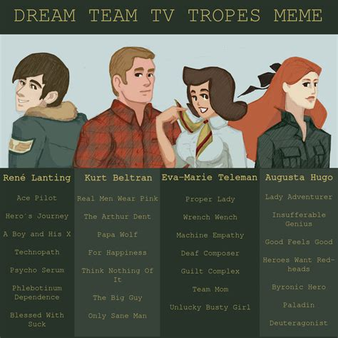 tv tropes dream team tv tropes meme by kiyae on deviantart