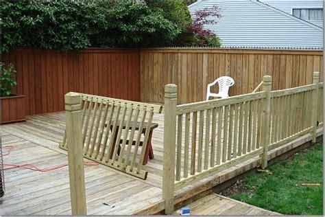 deck railing sections deck railings