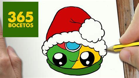 imágenes kawaii de navidad como dibujar logo chrome para navidad paso a paso dibujos