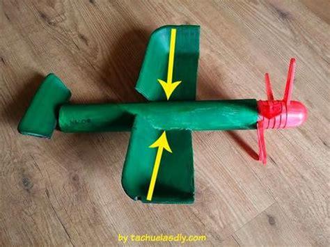 como hacer un avion de material reciclable manualidades diy con ni 241 os avi 243 n de juguete con material