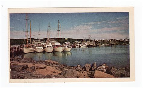 see the usa in a chevrolet chrome postcard martha s vineyard massachusetts boats