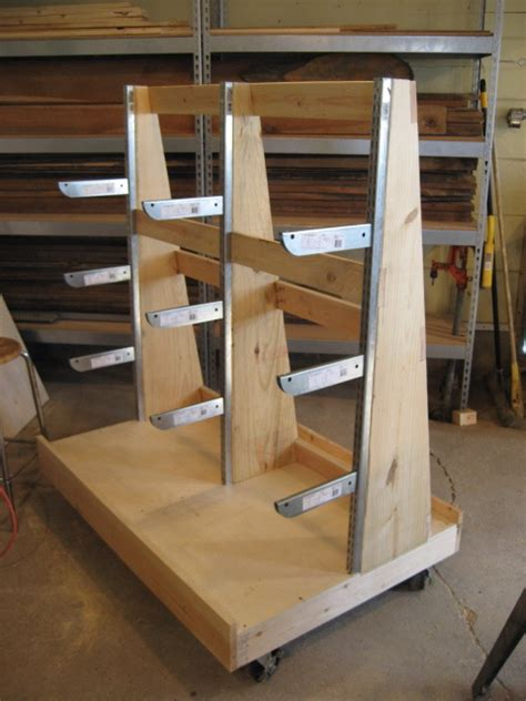 Wood Storage Rack Plans by Woodworking Plans Sheet Goods And Lumber Storage Cart