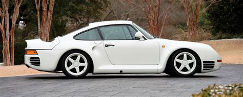 porsche prototype 1985 porsche 959 prototype in bright white