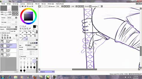 Line Drawing Tutorial For Paint Tool Sai