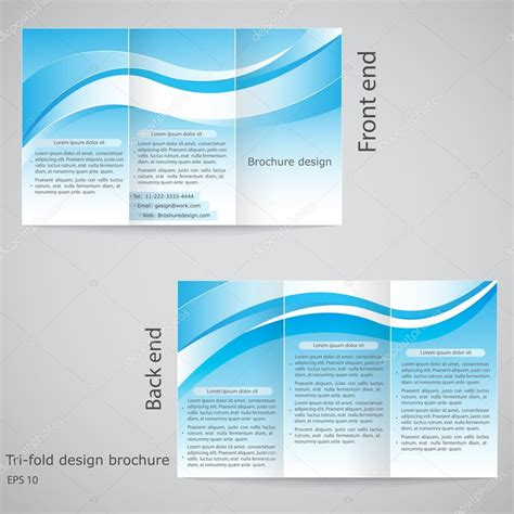 tri fold brochure design brochure template design with