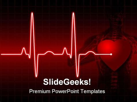 powerpoint templates nanotechnology free ecg medical powerpoint template 0610