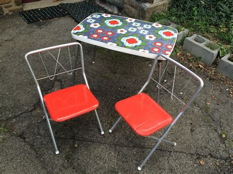 Childs Folding Table And Chair Child S Vintage Folding Table And 2 Chairs Attainable Vintage