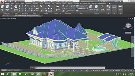 Online Autocad Design autocad 3d house modeling tutorial course using autocad