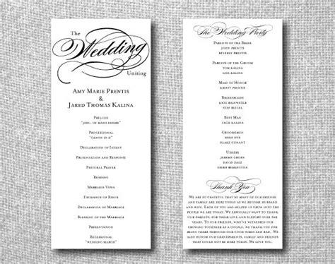 Free Printable Wedding Programs Online Printable Wedding Program Custom Diy Wedding Program