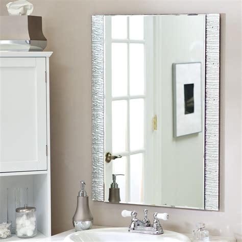 bathroom wall mirror ideas d 233 cor frameless molten wall mirror 23 5w x 31 5h in mirrors at hayneedle