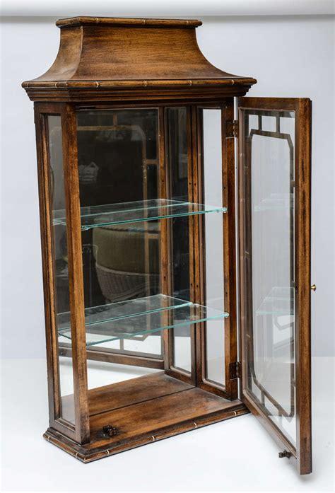 Bamboo Wall Cabinet by Pair Of Pagoda Faux Bamboo Wall Cabinets At 1stdibs