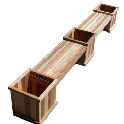 wooden planter bench cedar bench and planter boxes beautiful cedar patio